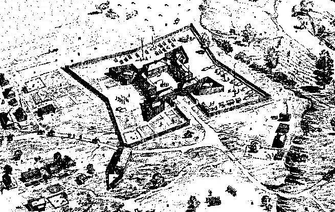 A rendering of how the fort may have looked in 1794
