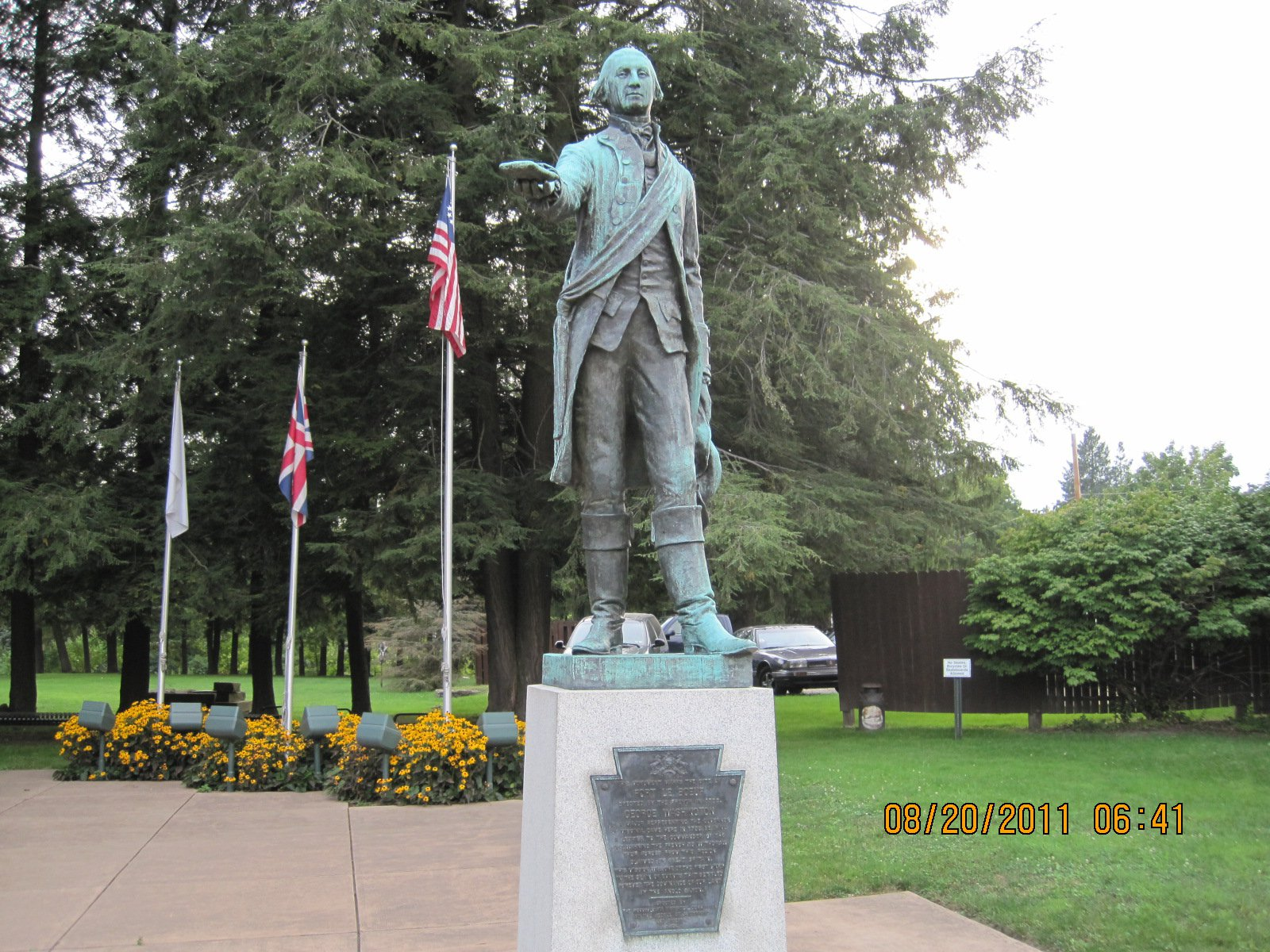 George Washington Statue as it looks today