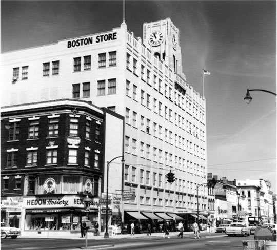 Exterior of Boston Store in 1960s