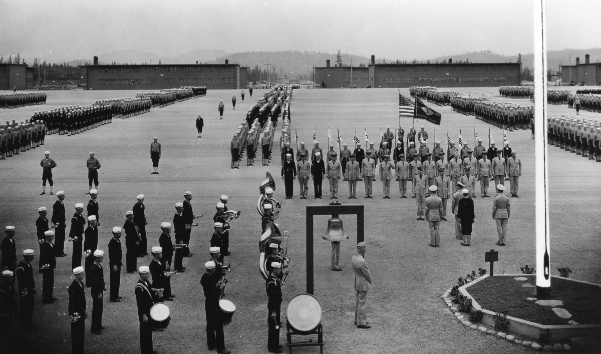 Parade ground of the former Farragut Naval Training Station.