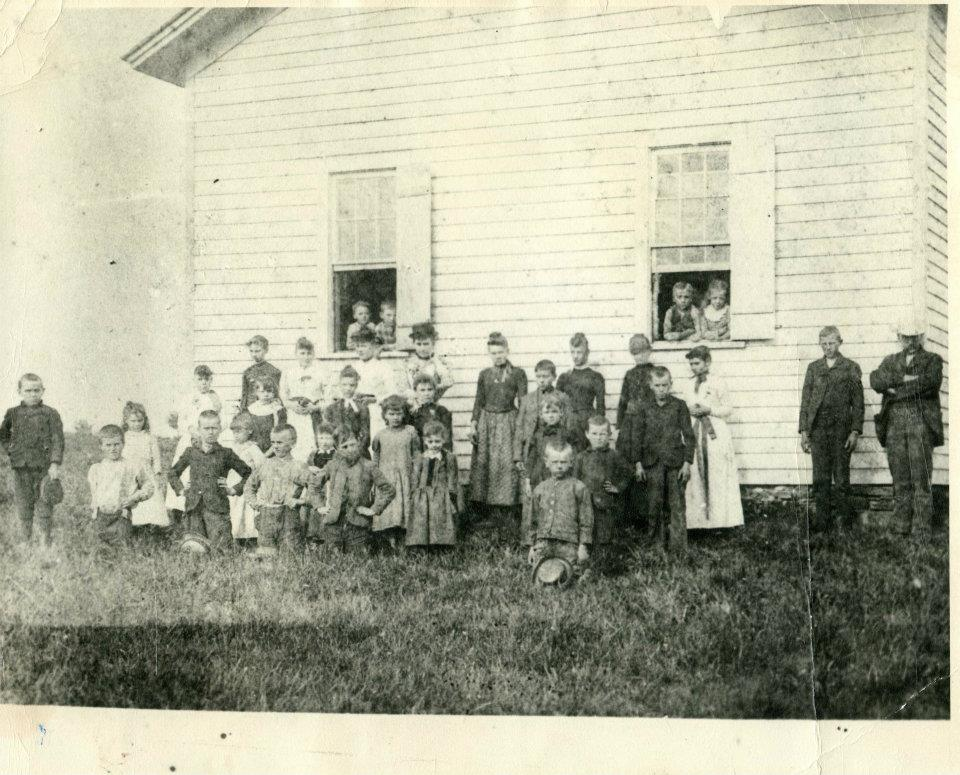 Hornby School and class and faculty circa 1890
