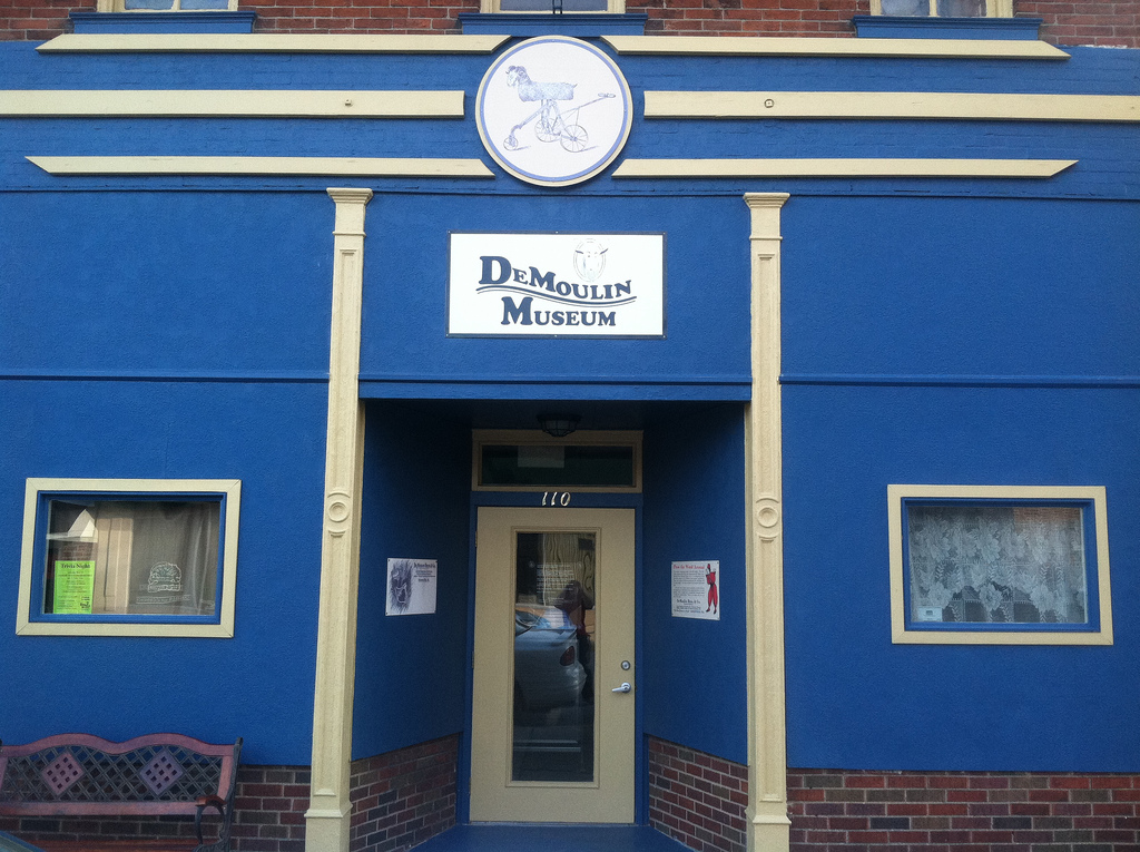 The entrance to the DeMoulin Museum