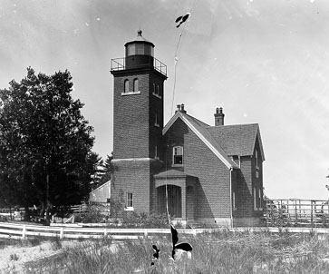 Lighthouse as seen in 1880s-early 1890s