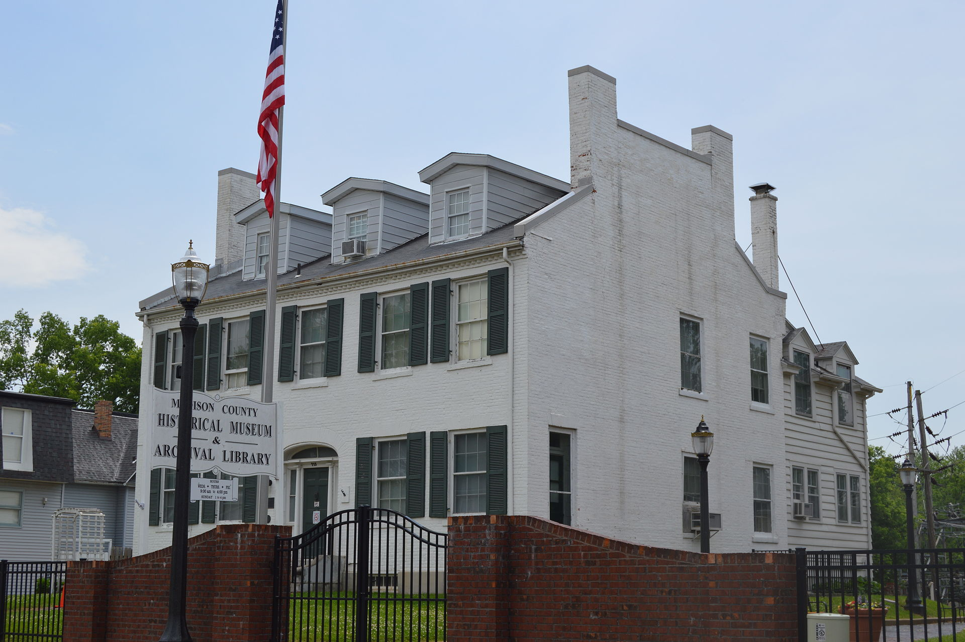 The Madison County Historical Society is located in the John Weir House.