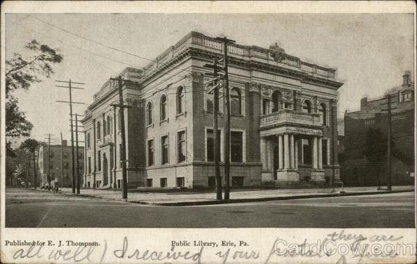 1906 postcard of the library