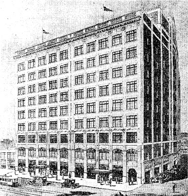 Rendering of how the store looked in 1913.
