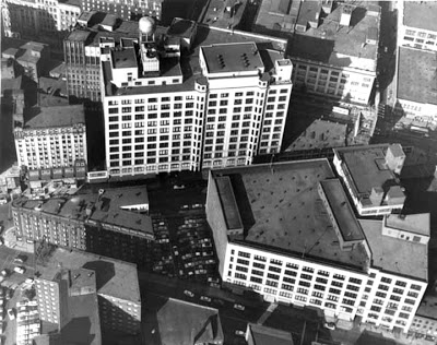 1970s-1980s aerial view.