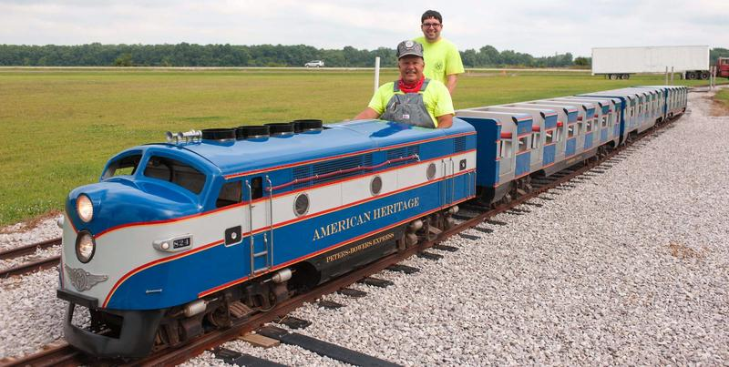 The miniature railroad runs around the perimeter of the museum grounds.