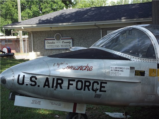 Cherokee County Veterans' Museum is home to static displays of equipment and over 500 artifacts.