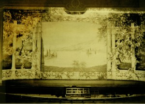 Ohio Theatre Stage and Stage Pit in 1922