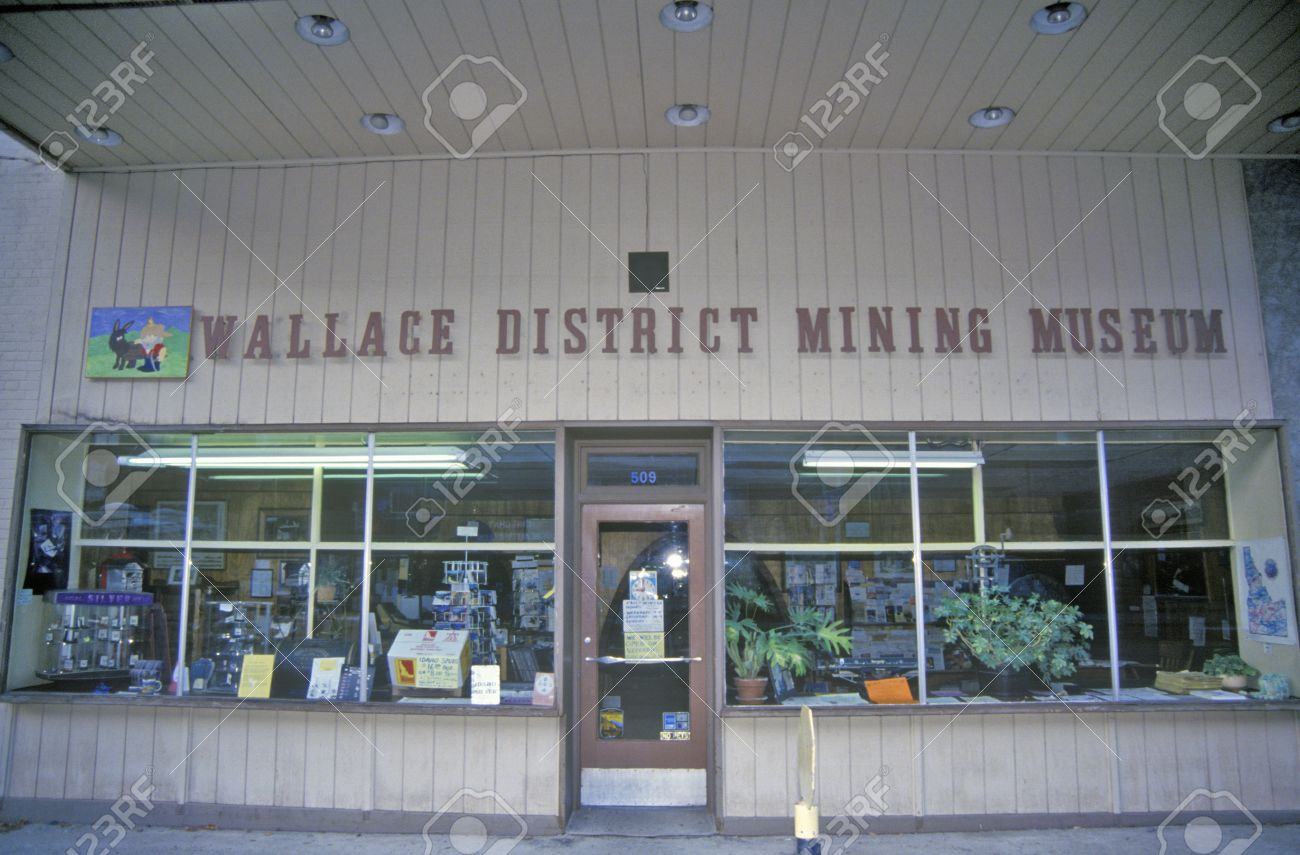 Exterior of the Wallace District Mining Museum.