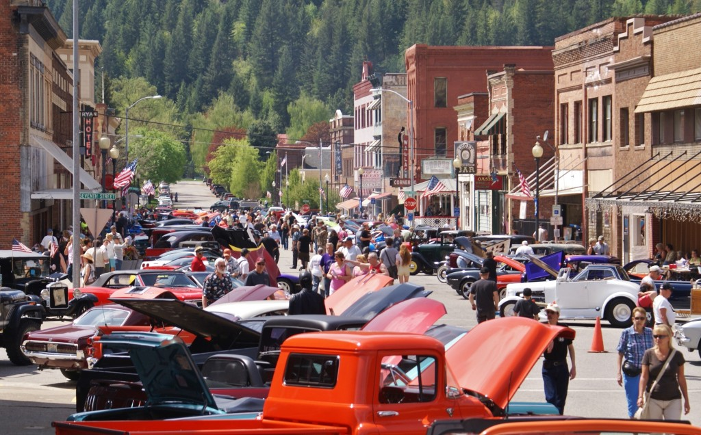 The Depot Days Classic Automobile Show in downtown Wallace.