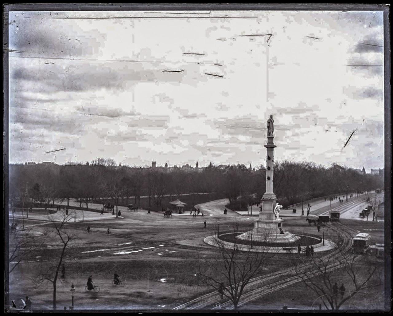 Columbus Circle, circa 1892