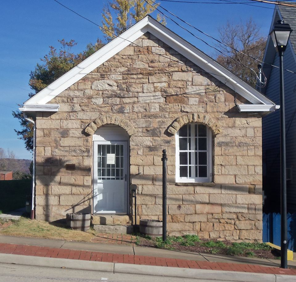 The old bank building that now is home to the museum.
