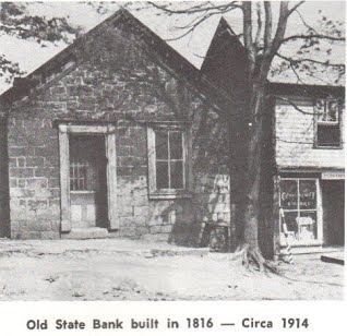 The bank building in earlier times.