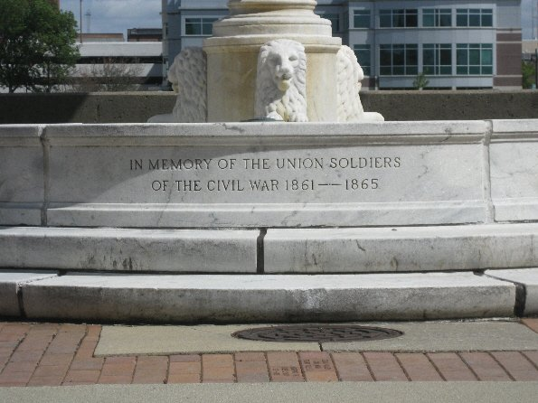 The fountain was dedicated in honor of Union soldiers and reflects Iowa's history as a state where the majority of residents supported the Union and efforts to Reconstruct the South.