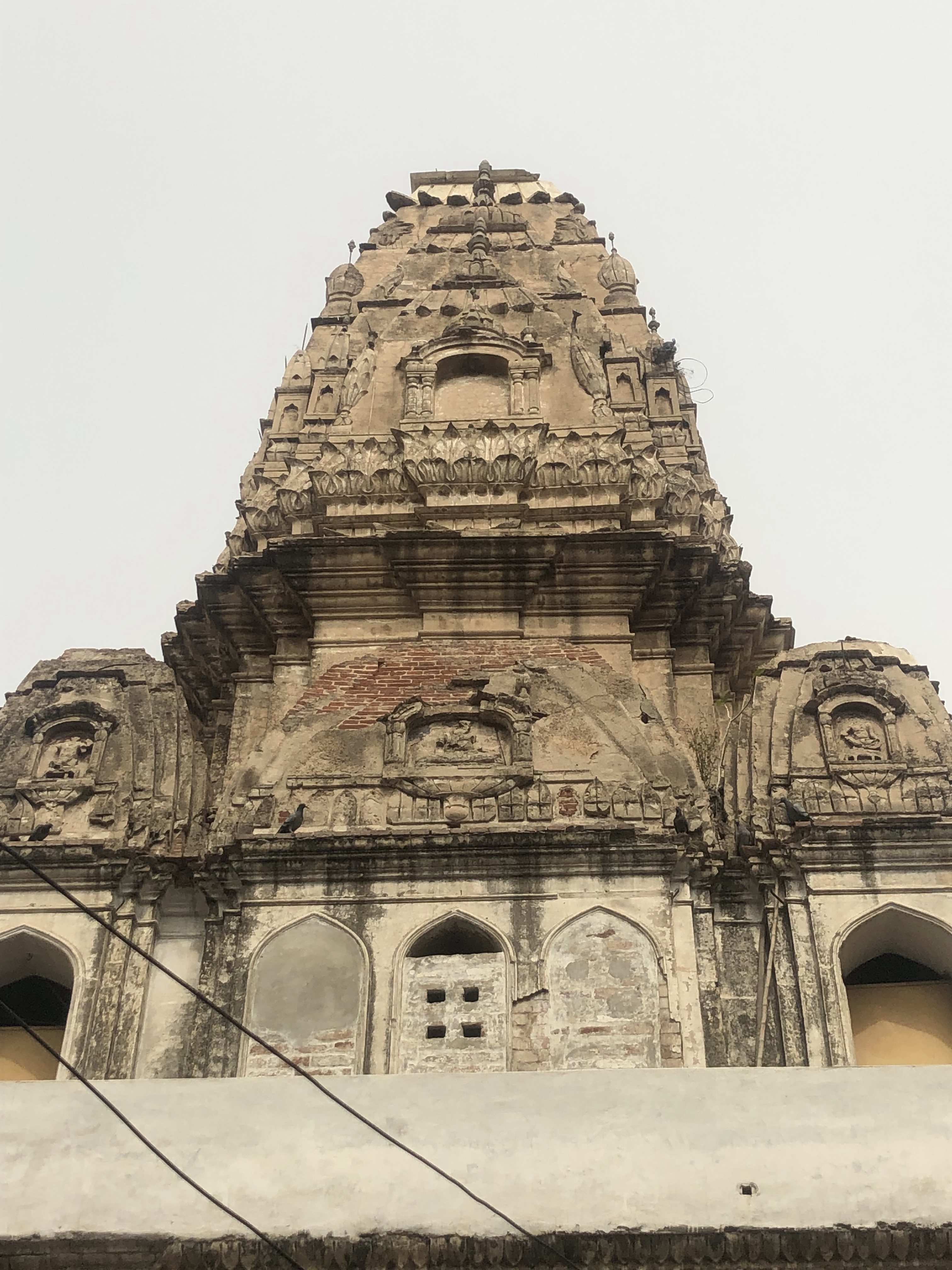 Front view of the shikhara