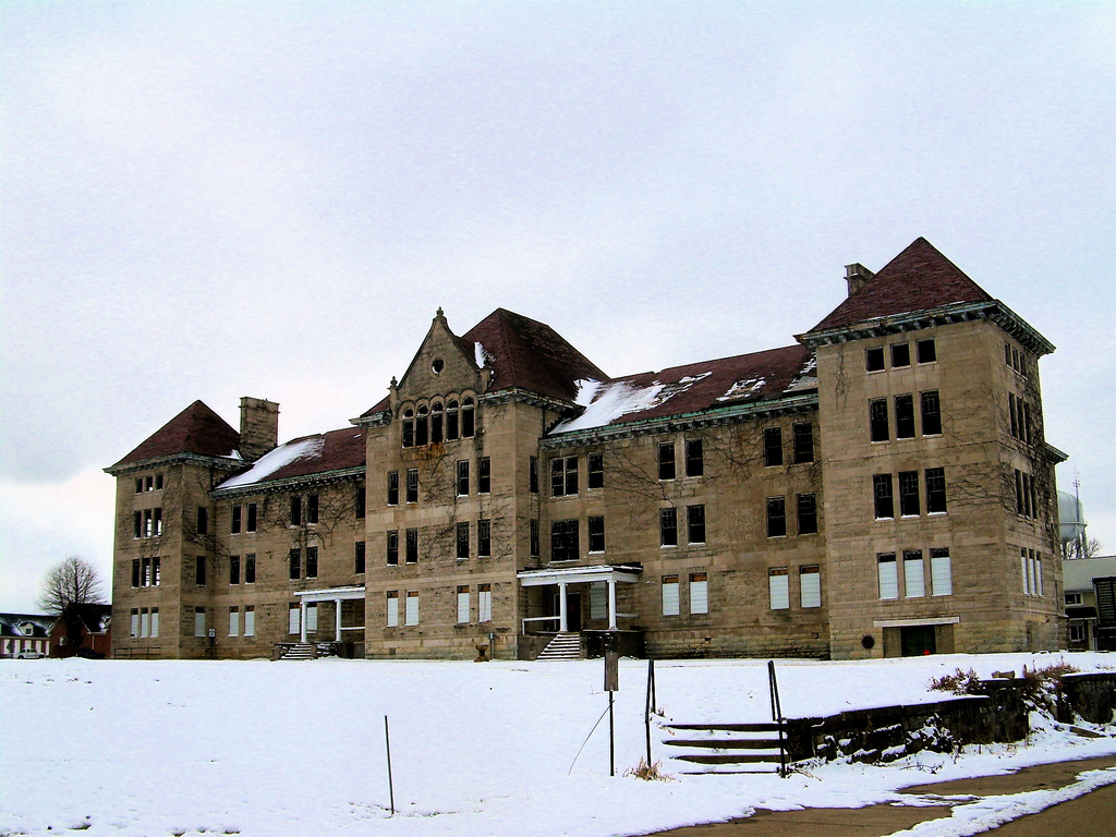 A view of the Bowen Building - the Hospital's main building.