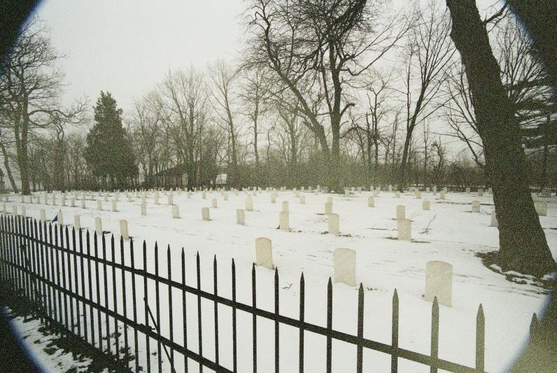 The Civil War cemetery on Johnson's Island.