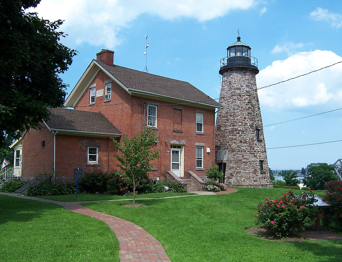 A view of the lighthouse at its current location.