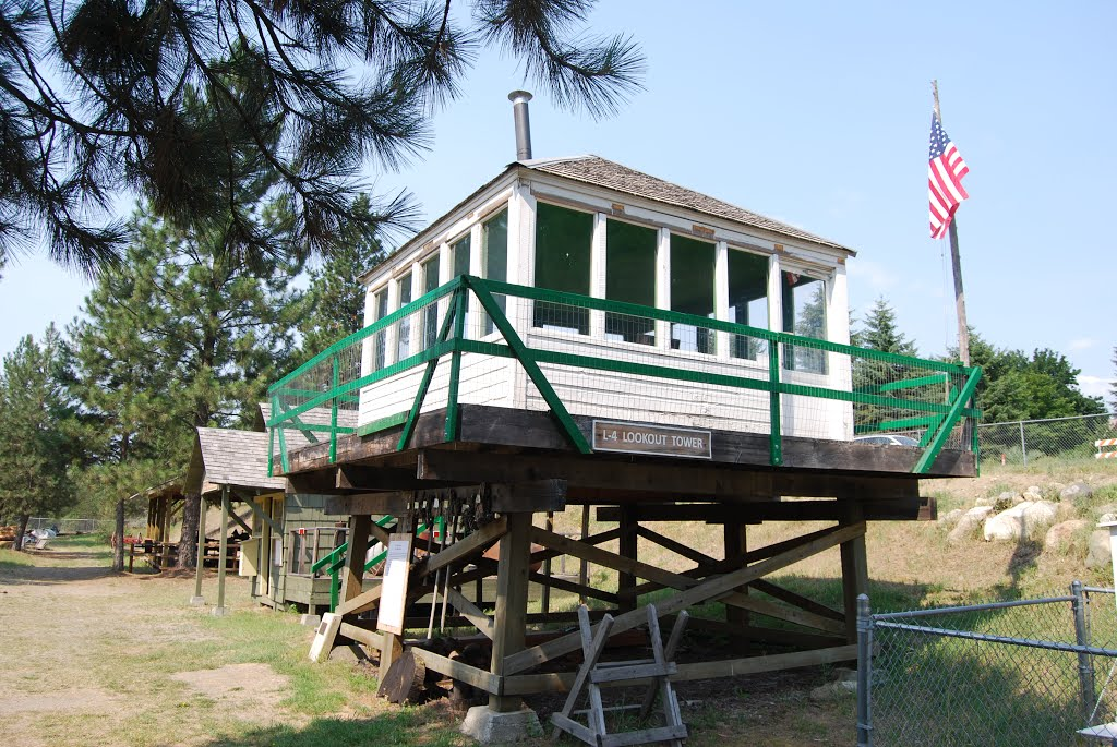 Replica fire lookout station.