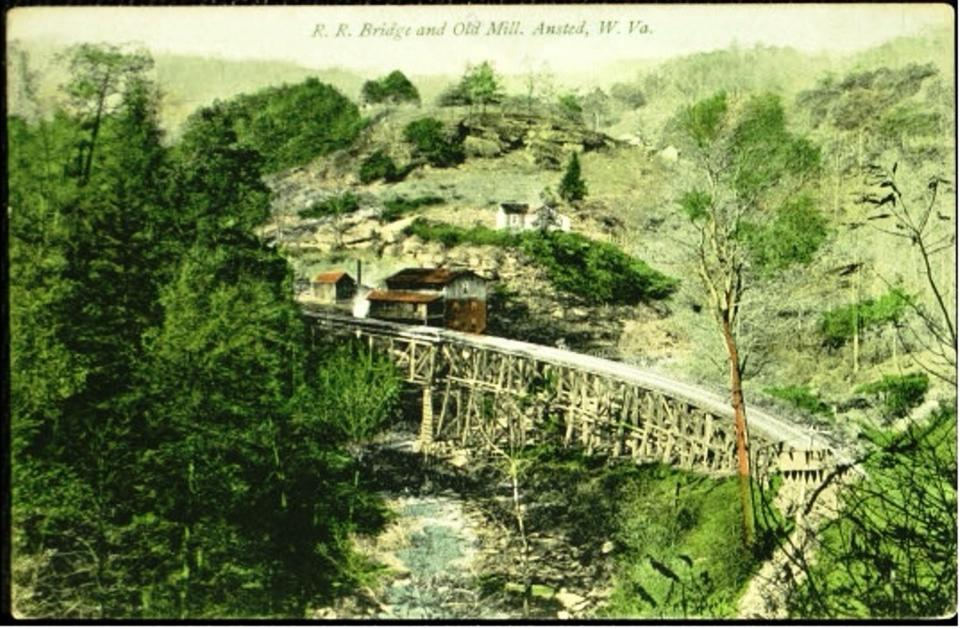 Old trestle at Mill Creek