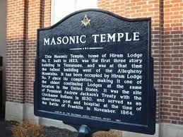 Plaque commemorating the historic lodge