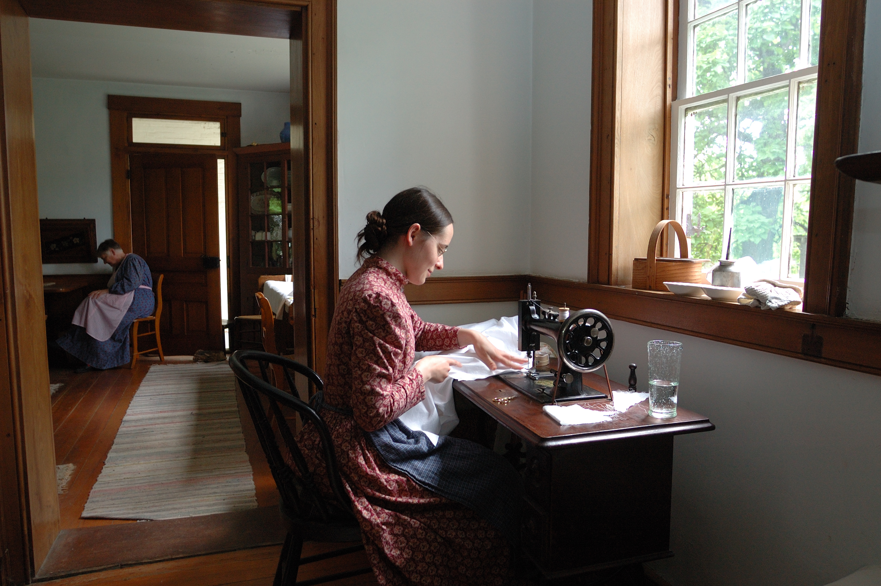 Historic interpreters demonstrate various 19th century skills on a daily basis.