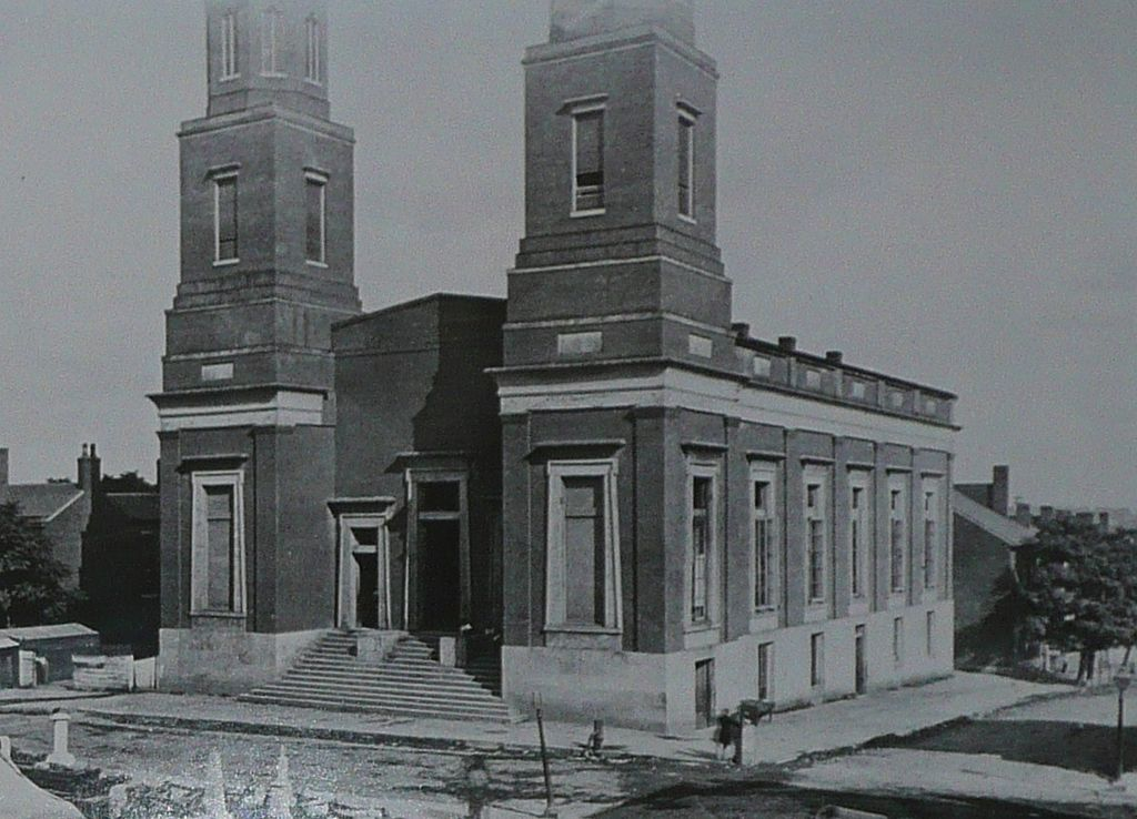 This photo shows the building as it likely appeared in the Civil War, when it was used by the Union army as a hospital.