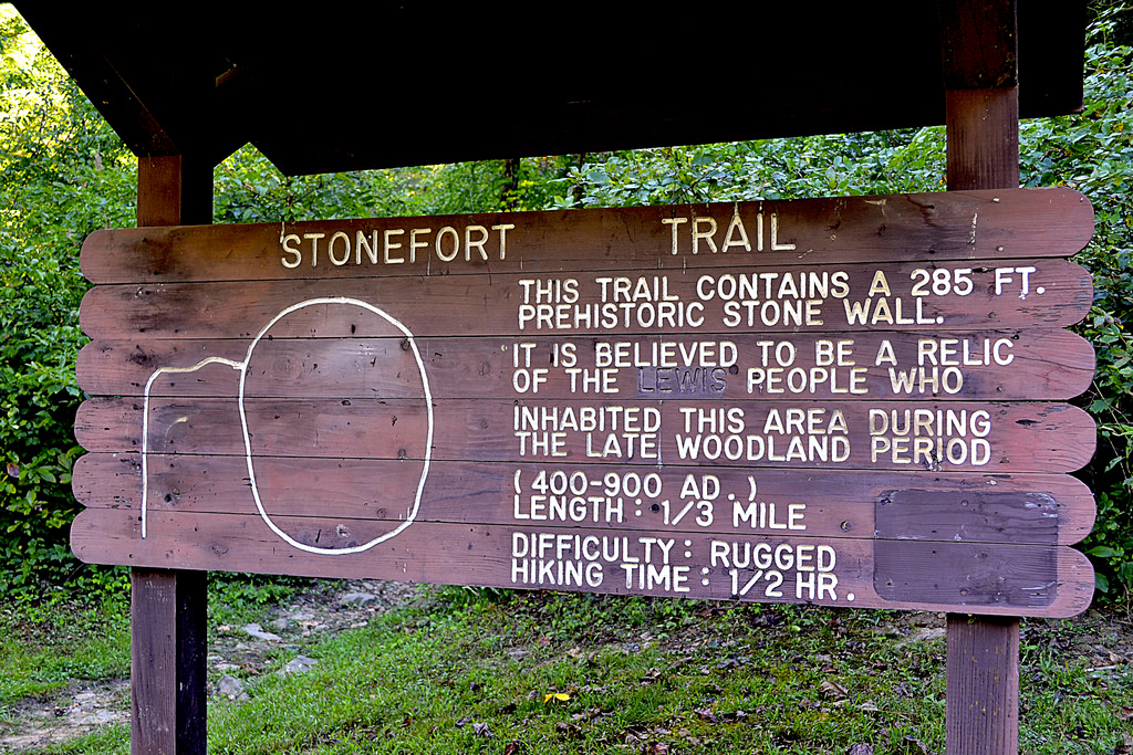 Sign marking the trail entrance