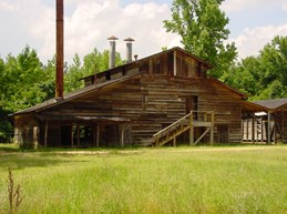 The Goodlett Cotton Gin was moved to Washington from the nearby community of Ozan. This 1883 structure represents the importance that cotton played in the South and southwest Arkansas in the late 19th century into the beginning years of the 20th.