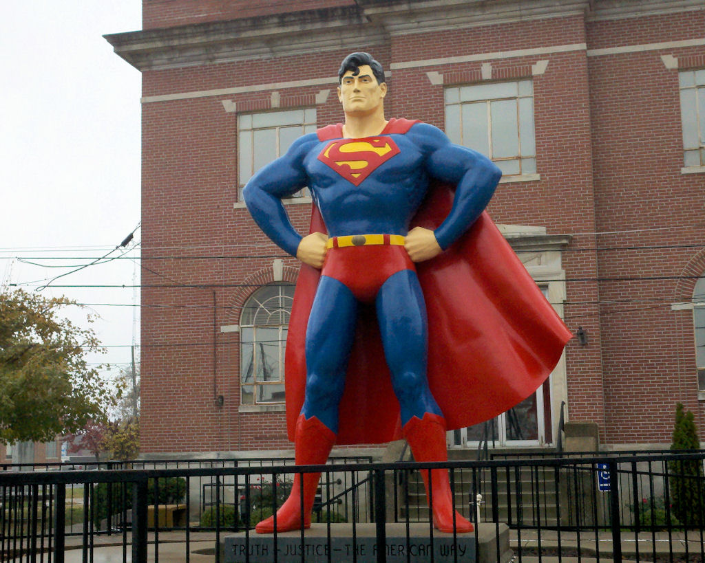 This twelve-foot statue located across the street from the Super Museum.