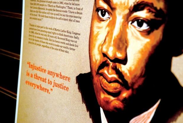 Part of the MLK exhibit.