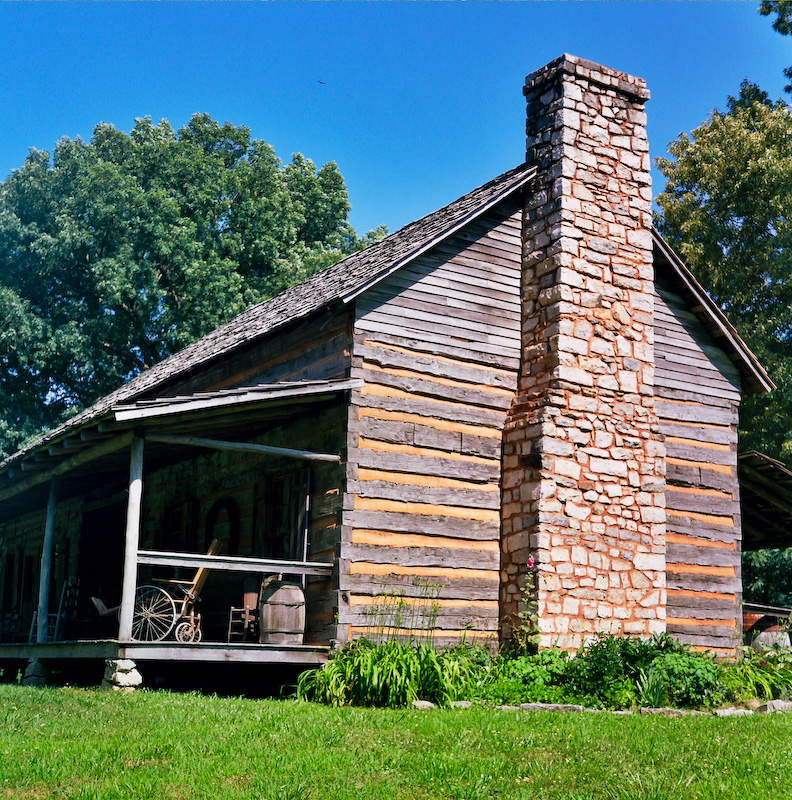 One of the homes at the museum
