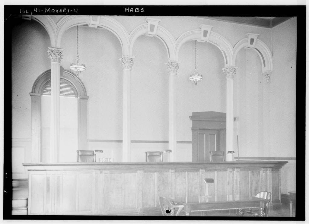 Vintage photo of the courtroom.