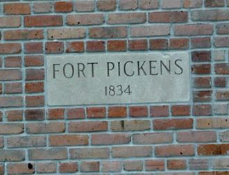 Entrance to Fort Pickens.