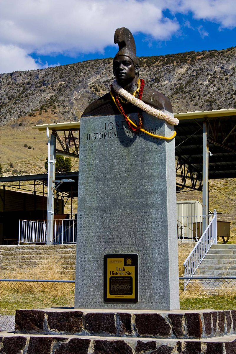 The monument at the Iosepa Settlement site