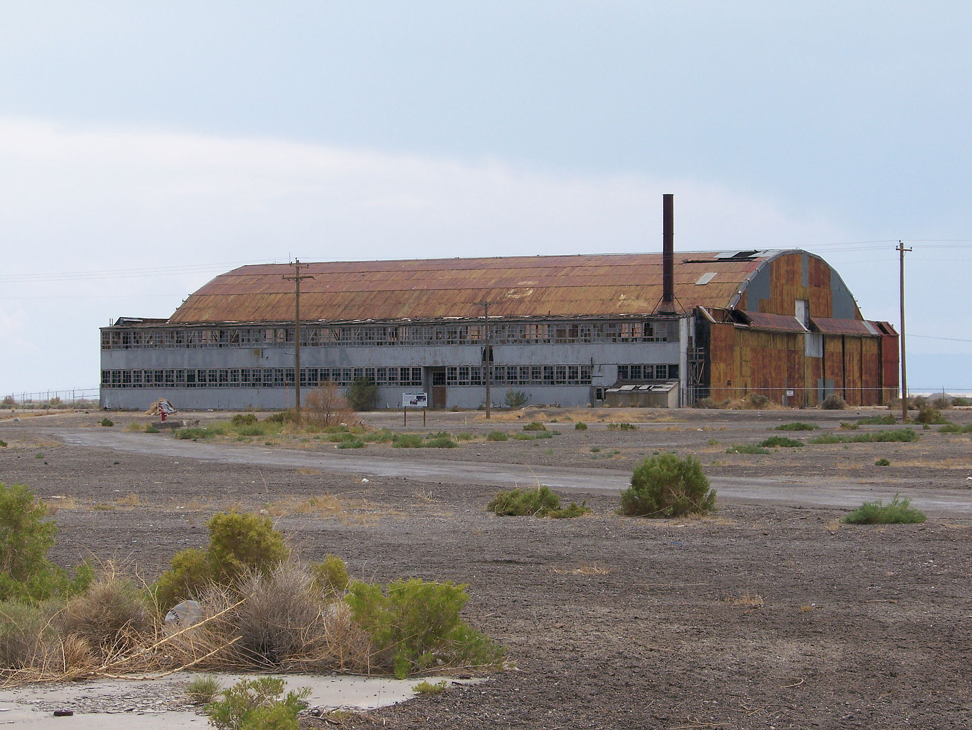 The hangar that once housed the Enola Gay.