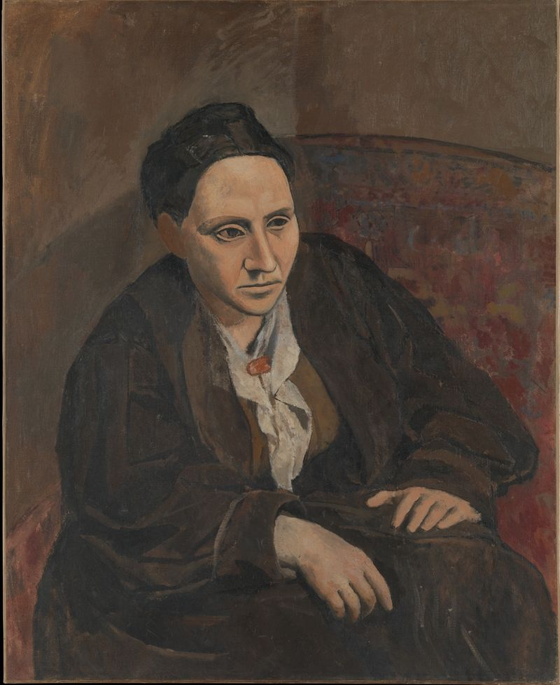 Portrait of Gertrude Stein by Pablo Picasso, 1906, Metropolitan Museum of Art