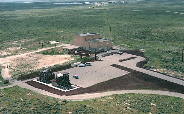Aerial view of the reactor