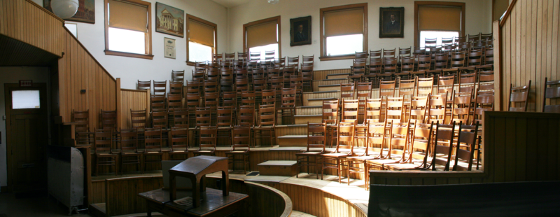 150-seat auditorium within the Indiana Medical History Museum
