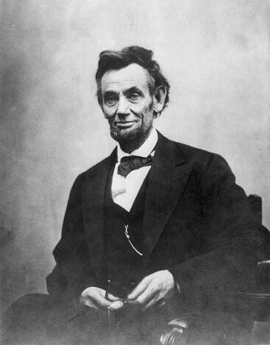 1865 portrait of Abraham Lincoln