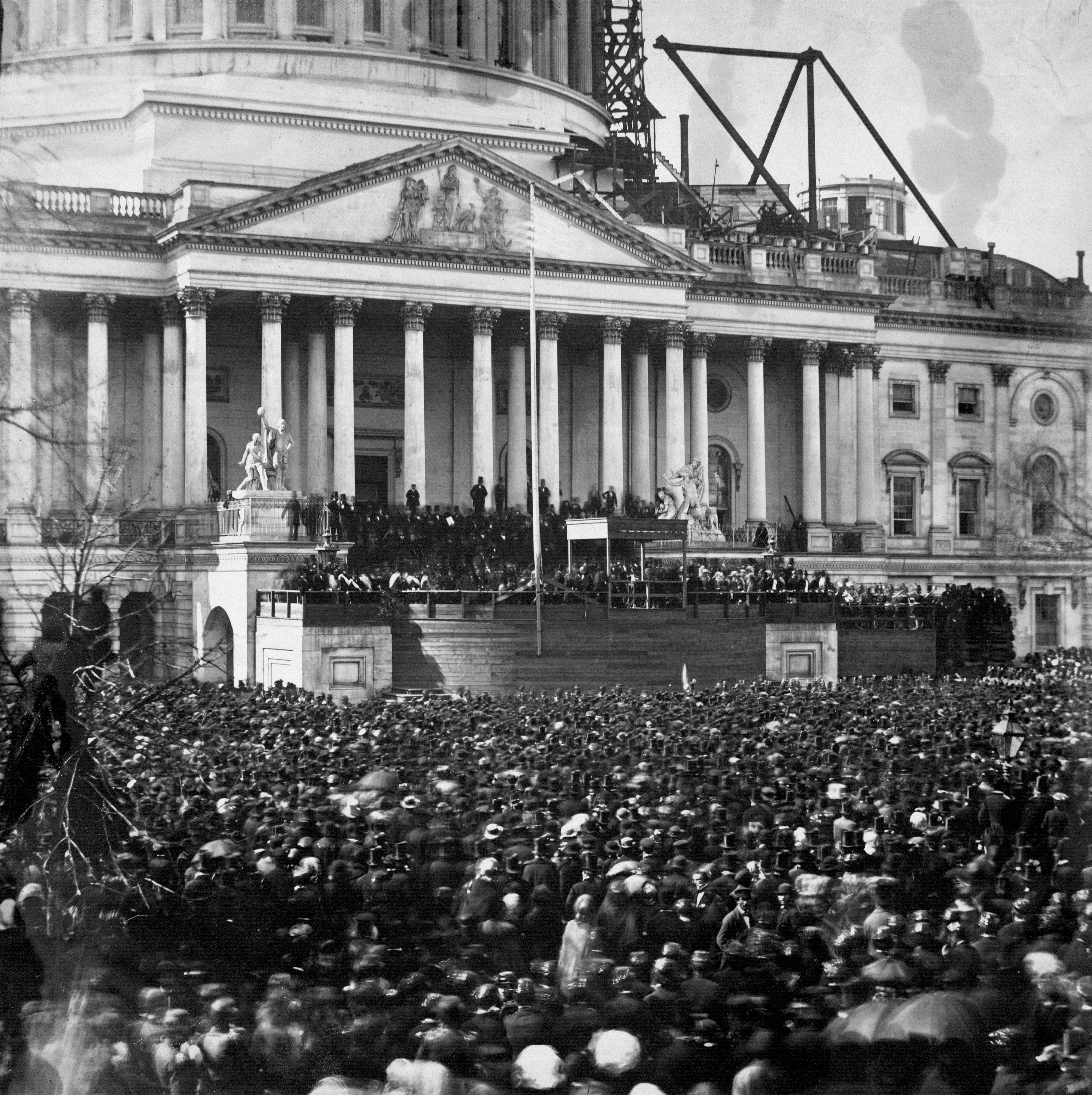 First Inaguration in 1861, Washington D.C.