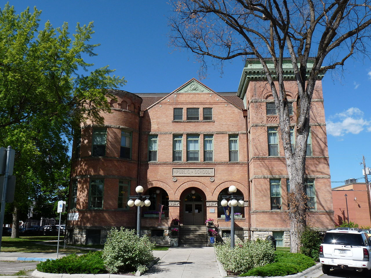 The historic Central School was built in 1894 and is now the location of the Northwest Montana History Museum.