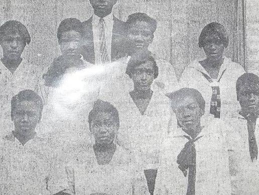 Students at the Victoria Colored School
