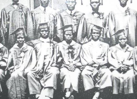 Graduates of the Victoria Colored School.