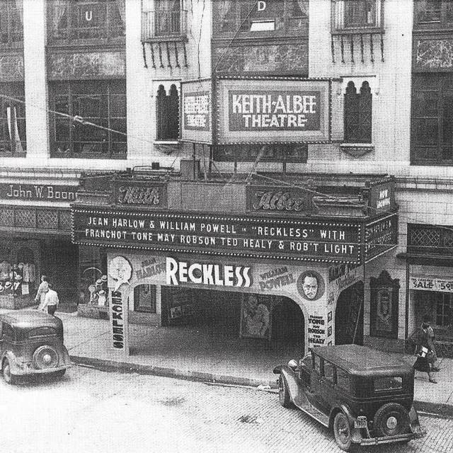 "The theater in 1935, showing ""Reckless"""