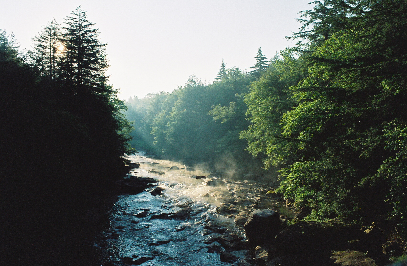 The Blackwater River in the summer season