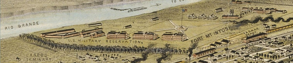 A picture of what the fort looked like in the early 1890s