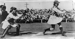 Betsy Jochum batting at Playland Park